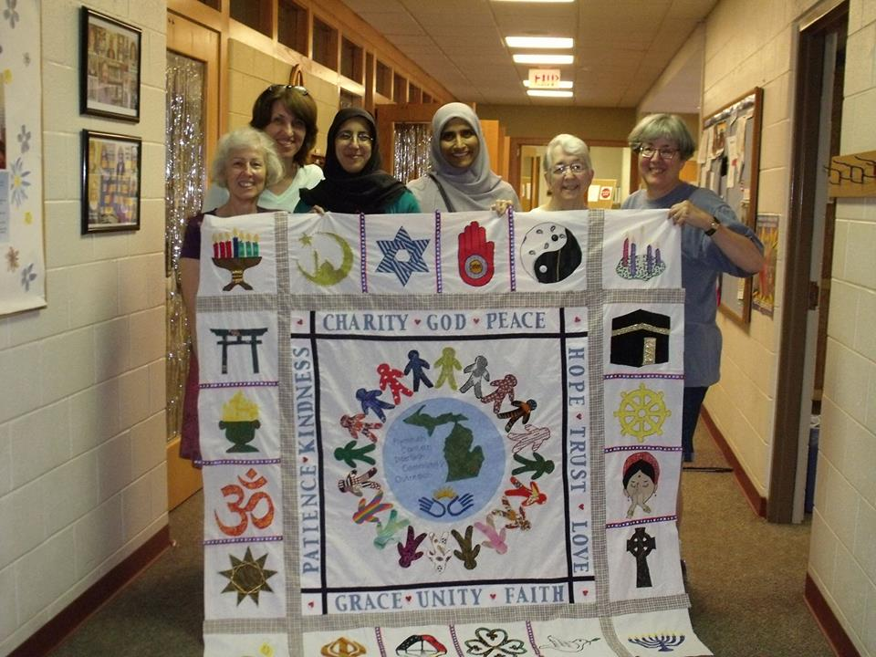 Interfaith Community Outreach:  Plymouth-Canton Group Interfaith Quilt