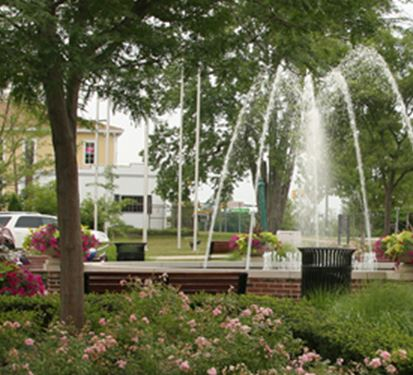 Public Space with a fountain
